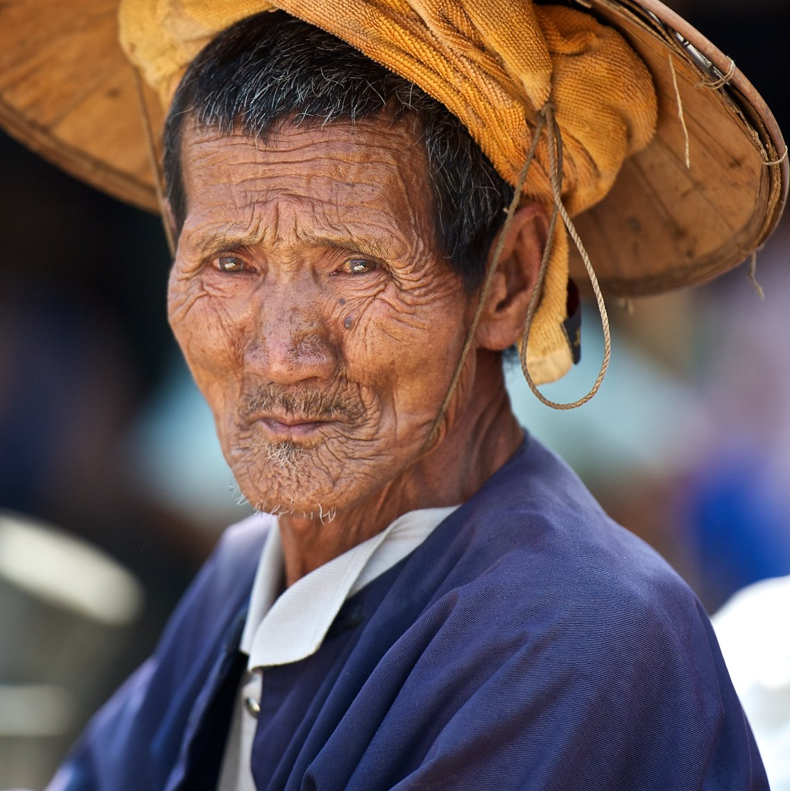 Burma Inle Lake portrait man