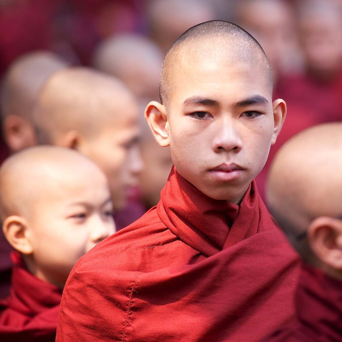 Burma Mandalay monk portrait