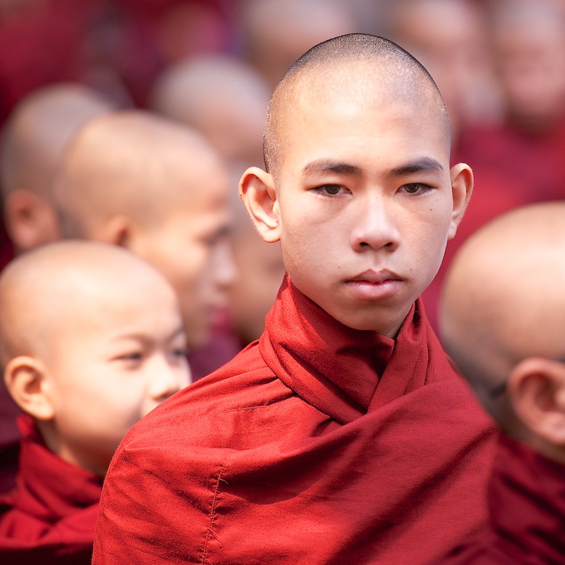 Burma Myanmar Bagan portrait young monk