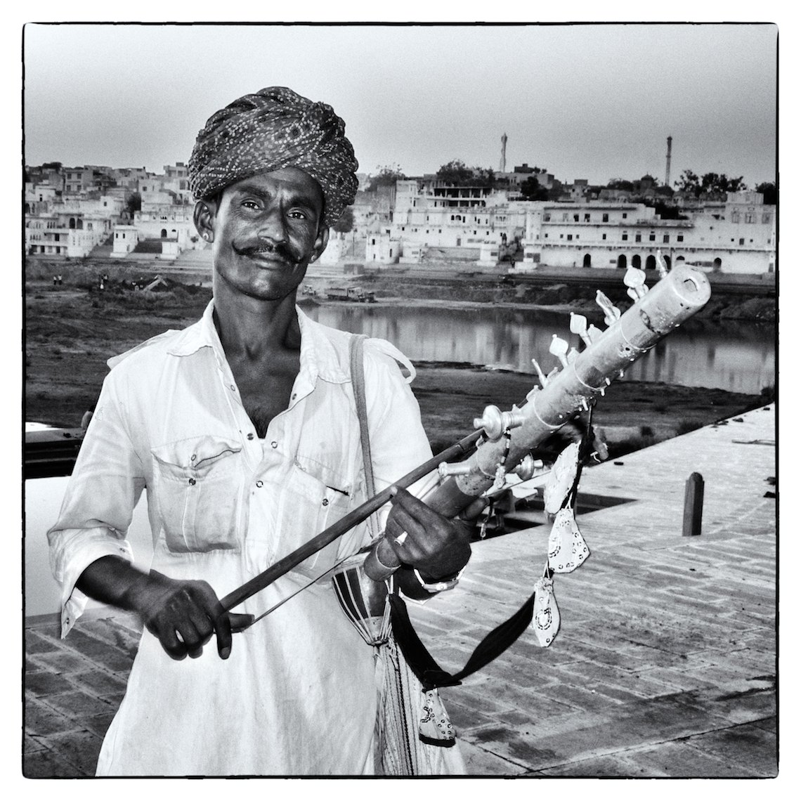 India Pushkar musician portrait