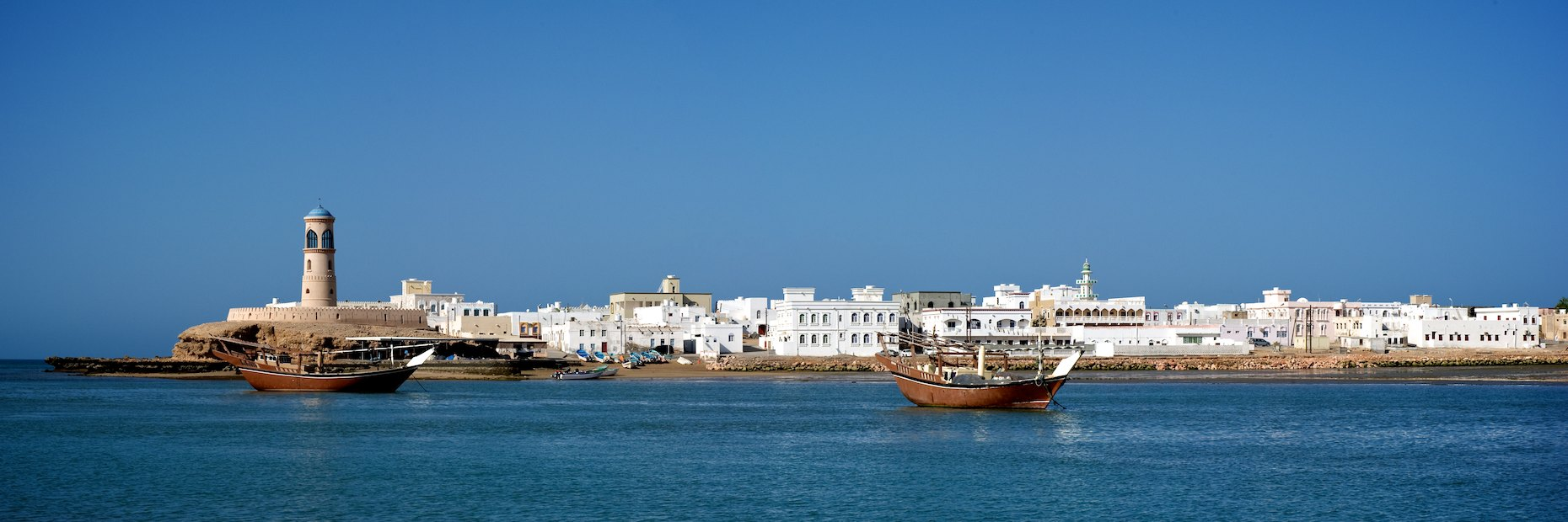 Oman Sur harbor panorama