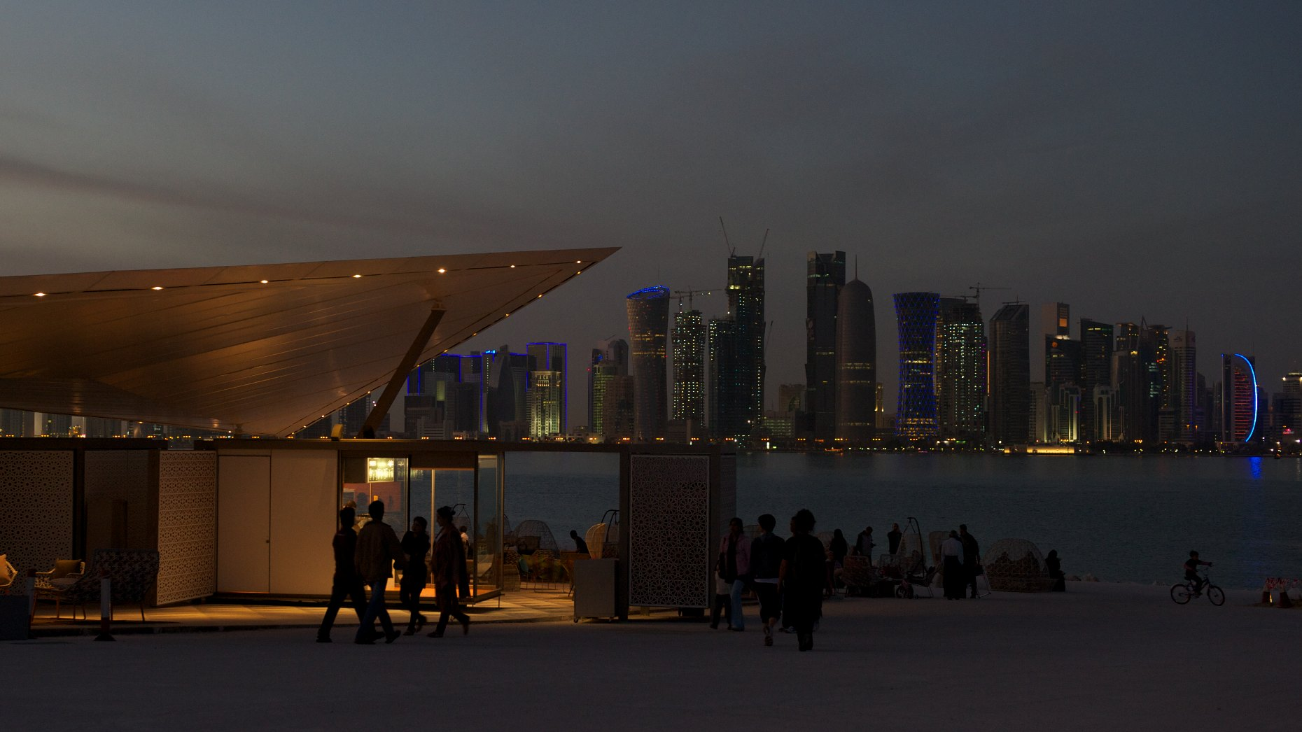 West Bay at night, Doha, Qatar