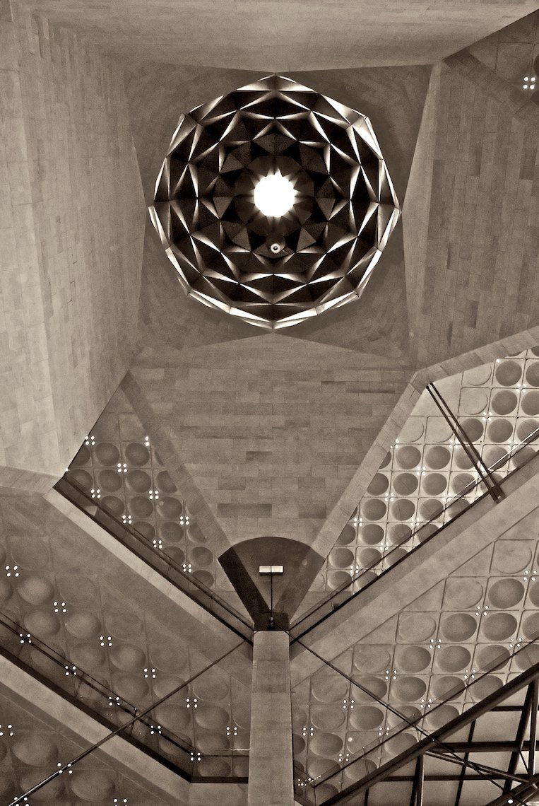 Qatar Doha Museum of Islamic Art interior black and white Dome 1