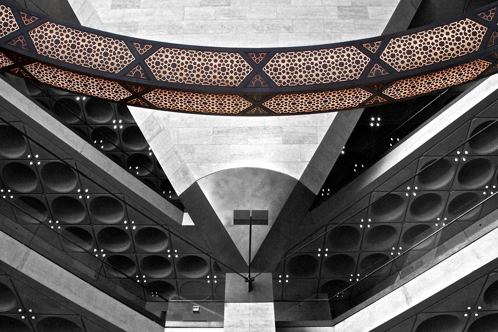 Qatar Doha Museum of Islamic Art interior black and white Necklace 2
