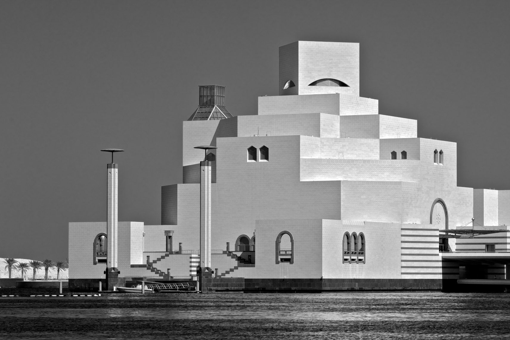 Qatar Doha Museum of Islamic Art black and white