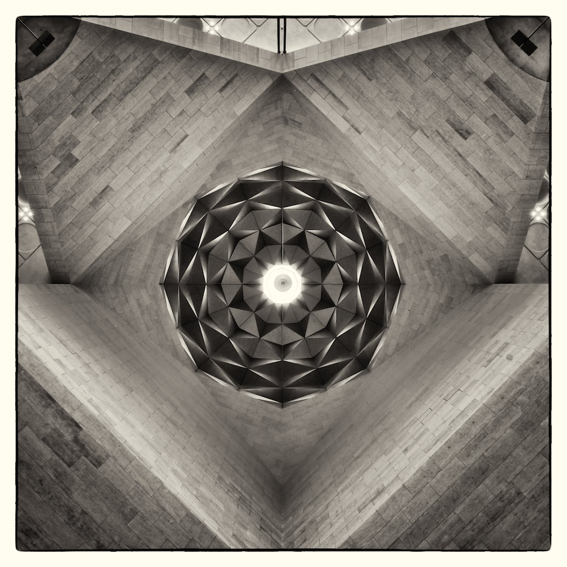 Qatar Doha Museum of Islamic Art interior black and white Dome square