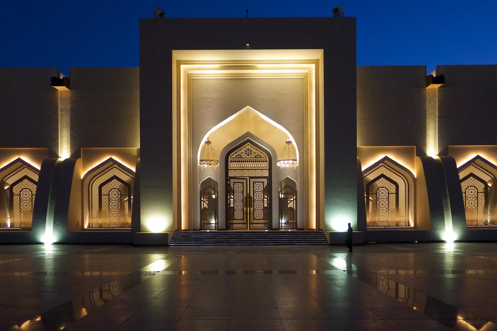 Qatar National Mosque entrance
