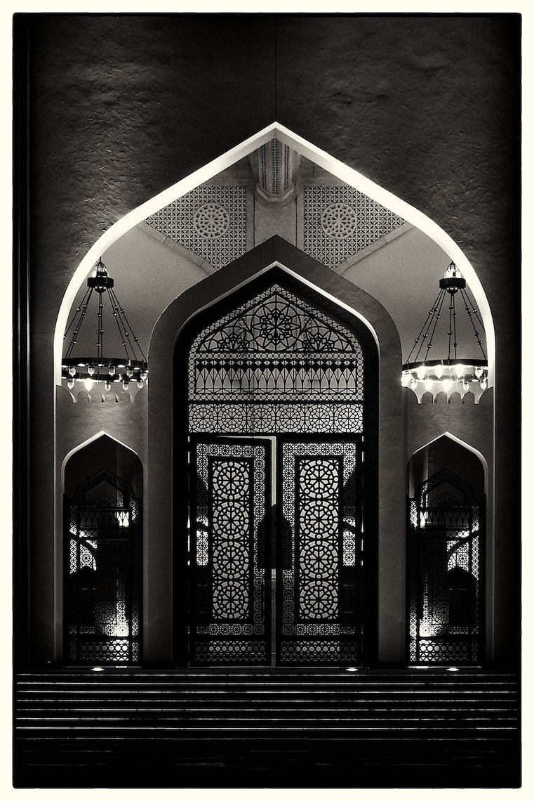 Qatar National Mosque entrance door