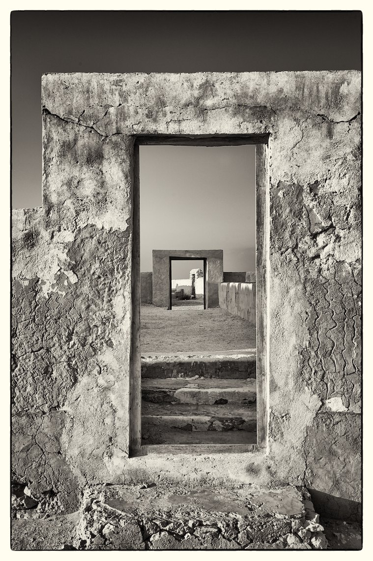 Qatar abandoned village Al Arish, door