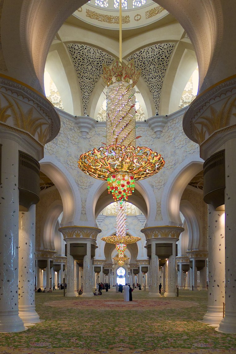 United Arab Emirates Abu Dhabi Sheikh Zayed Grand Mosque interior