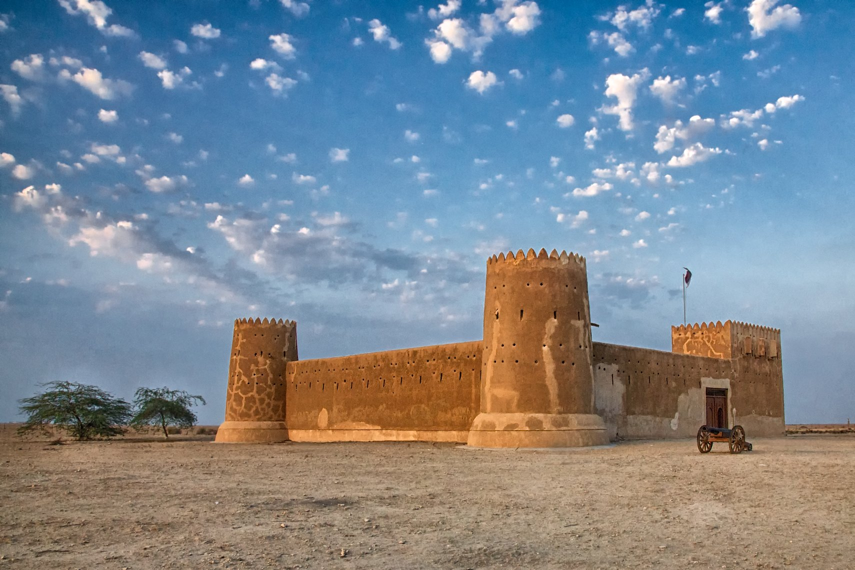Qatar Fort Zubara white clouds